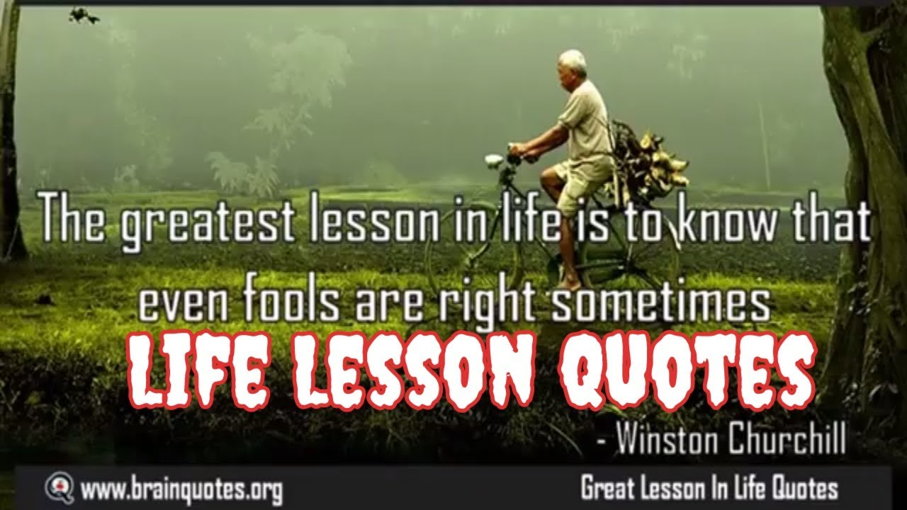 Lesson In Life Quote Gorgeous Best Quotes About Life Lessons✓  Youtube