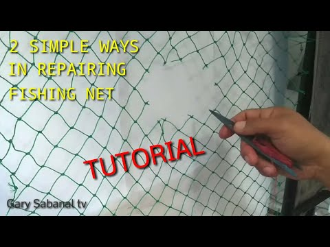 DIY REPAIRING FISHING NET