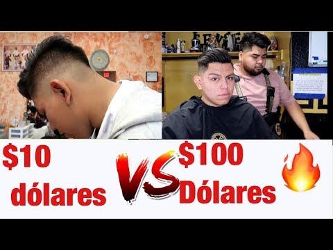 CORTE DE PELO DE $10 DOLARES vs UNO DE $100 DOLARES! *Vale la pena?*