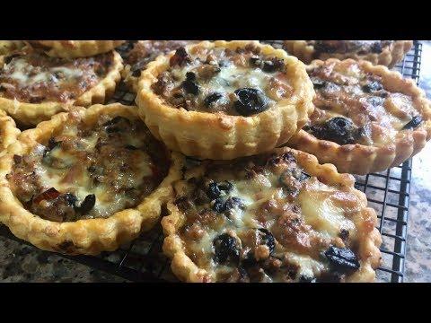 mini-pizzas-feuilletées-à-la-viande-hachée