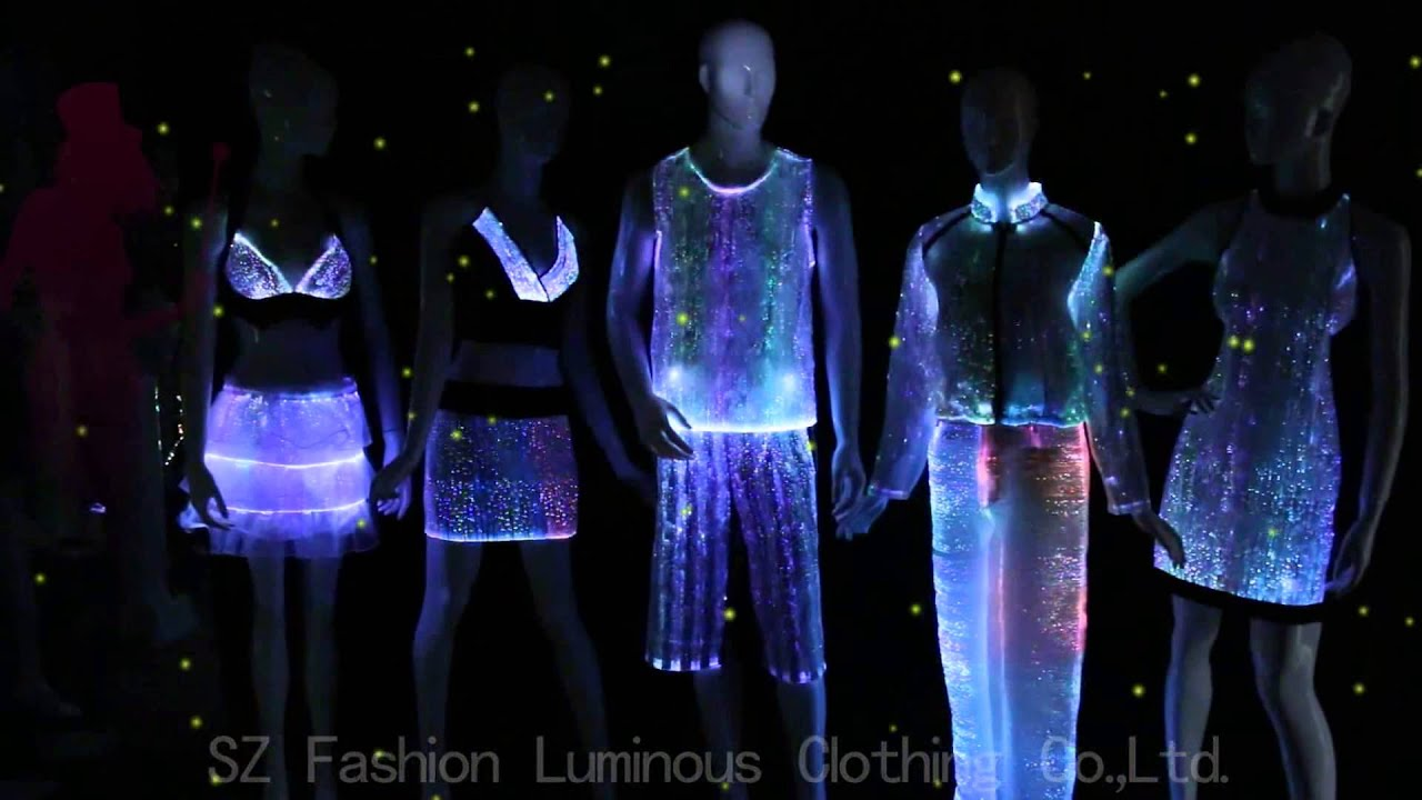 luminous optic fiber clothes factory in china youtube