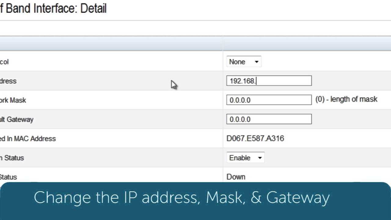 Dell Networking N4000: Assigning Management IP via GUI