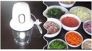 How to use Mini Food Processor | How to use Vegetable Chopper