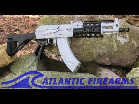 Draco AK47 Pistol ElevenMile Arms Bright Silver at Atlantic Firearms