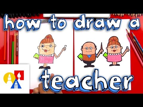 How To Draw A Cartoon Teacher