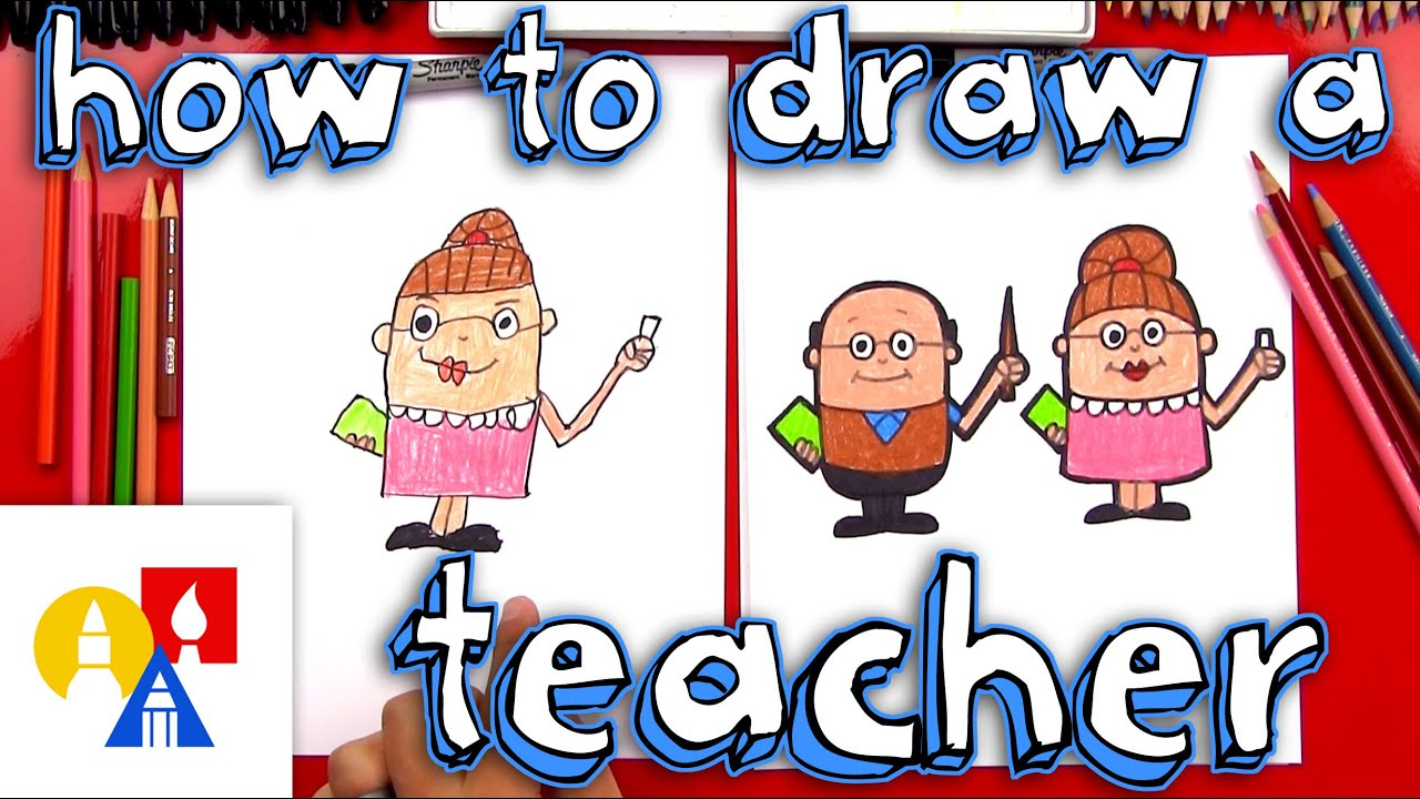 small resolution of how to draw a cartoon teacher