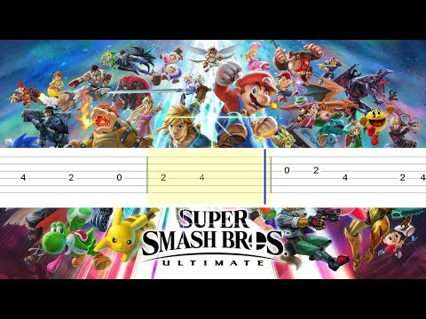 Super Smash Bros Ultimate - Main Theme (Easy Guitar Tabs Tutorial)