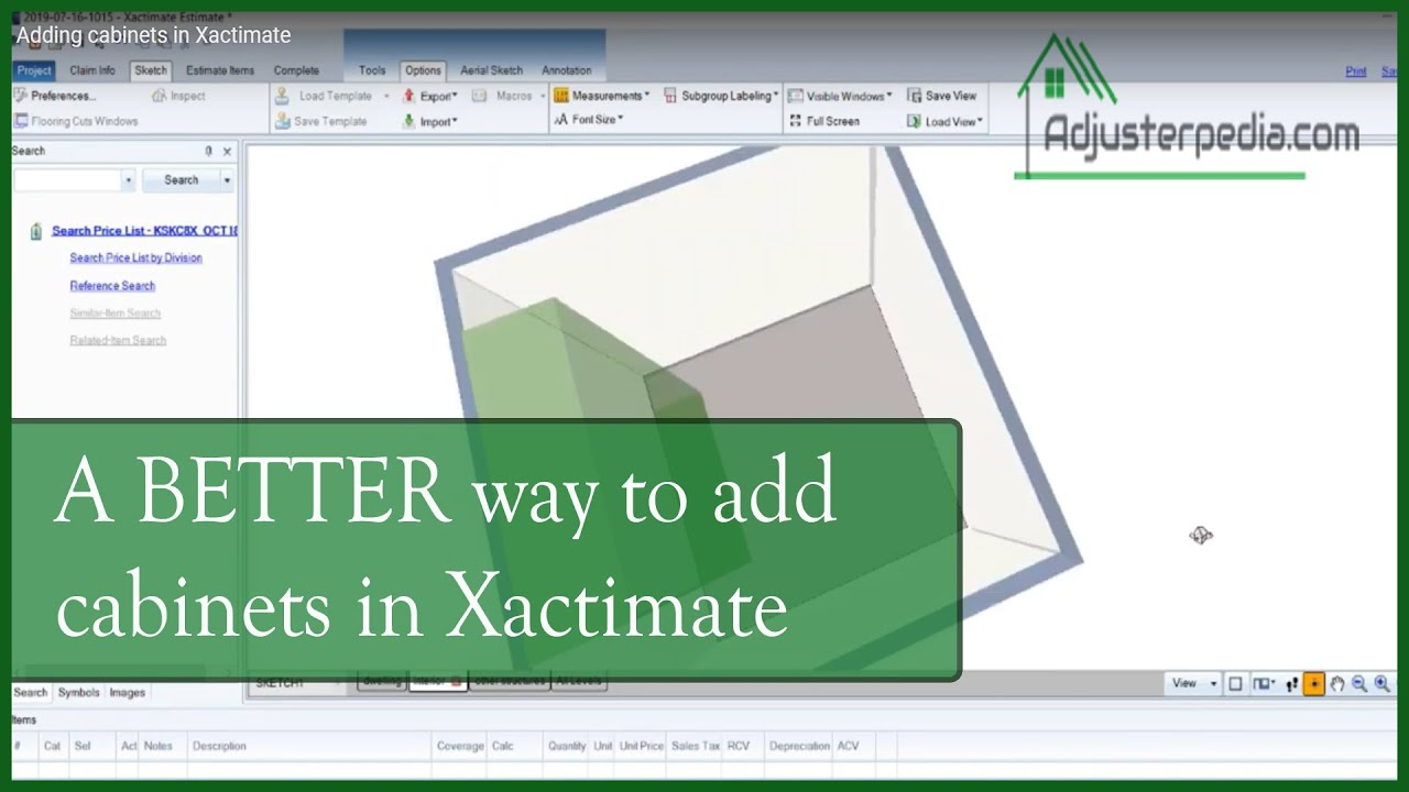 How To Add Cabinets In Xactimate The Better Way Youtube