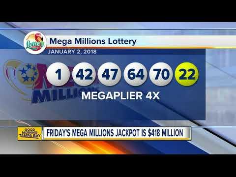 $4 million Mega Millions ticket sold in Florida; Friday's jackpot increases to $418 million