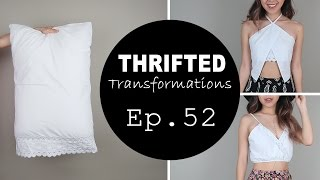 1 Pillow Case, 2 Summer Tops | Thrifted Transformations Ep. 52