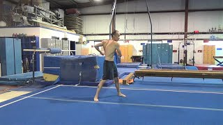 BACK IN THE GYM AT ALL AMERICAN GYMNASTICS!  (GYM REOPENING WORKOUT/VLOG)