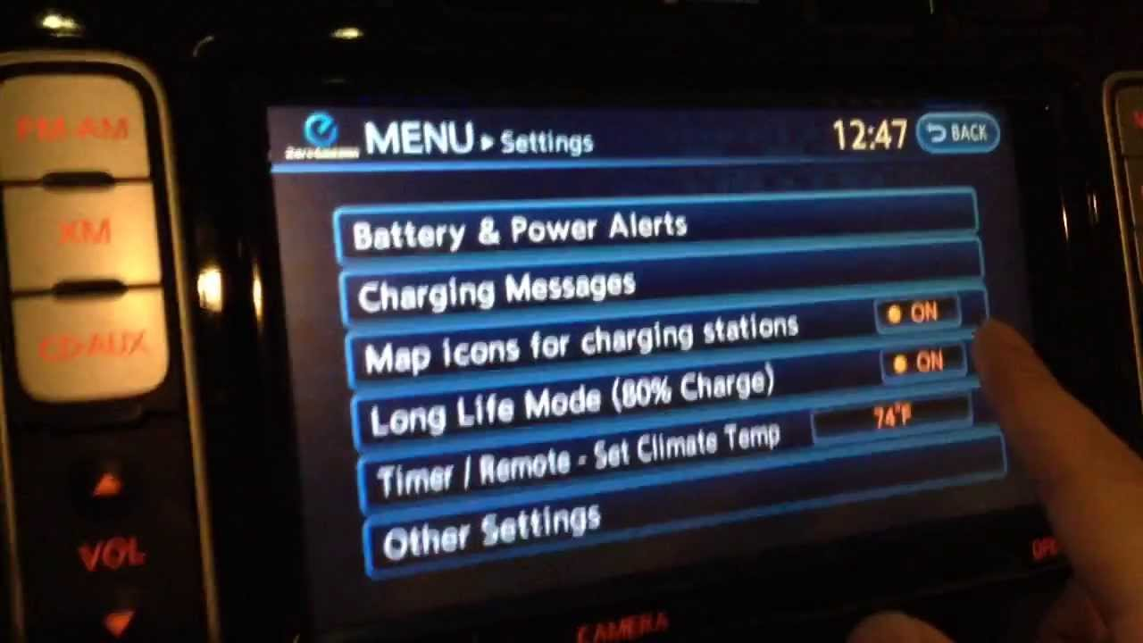 2017 Nissan Leaf Long Life Mode Setting Explanation