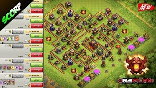 Clash Of Clans 💥 TH10 TROPHY BASE 💥 TROLL BASE 💥 REPLAYS