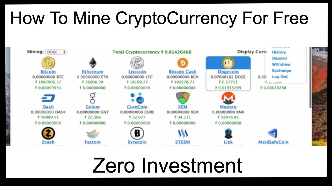 how to mine cryptocurrency online