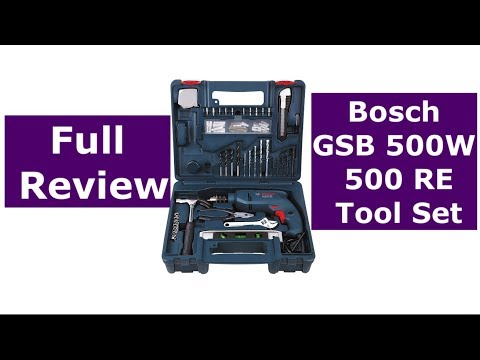Bosch GSB 500W 10 RE Professional Tool Kit Full Review | Best Tool set you can get in a budget