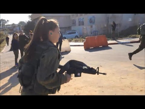 Israeli women soldiers doing fitness training