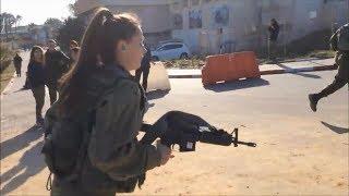 Israeli women soldiers doing fitness training