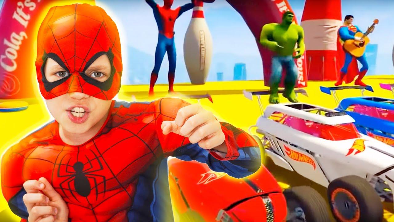 Реакция Спайдермена на супергеройское видео и тачки