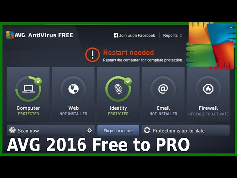 AVG 2016 Free Antivirus Install with Advanced Settings and Scan