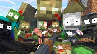 Monster School   Funny Zombie Apocalypse Challenge - Scary Minecraft Animation