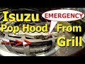 Hood Release Cable Broken? How to Open Car Hood Latch - Isuzu - Emergency access engine compartment