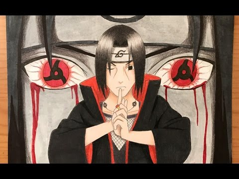 speed drawing itachi uchiha naruto shippuden hd