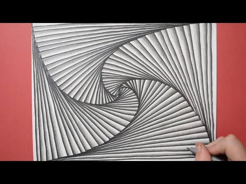 How to Create a Simple Spiral Pattern with Lines - Doodle Art