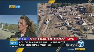 raw video sgt from san bernardino co sheriff s office updates active shooting situation at a soci