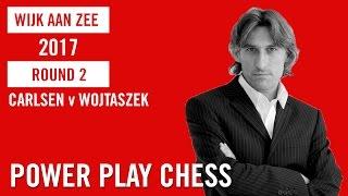 Tata Steel Chess Tournament 2017 Round 2 Carlsen v Wojtaszek