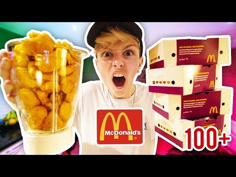 100 MCDONALDS CHICKEN NUGGETS DRINK!!! **Unhealthiest Drink EVER** (Chicken Nugget Challenge)