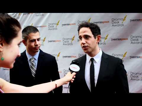 Stephen Karam and Santino Fontana Interview on the Drama Desk Awards 2012 Red Carpet