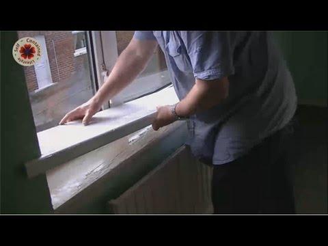 Fitting Window Sill - YouTube