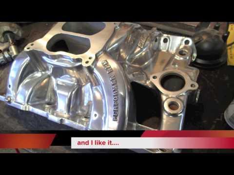 Polishing a Pontiac Edelbrock Performer RPM Intake Manifold