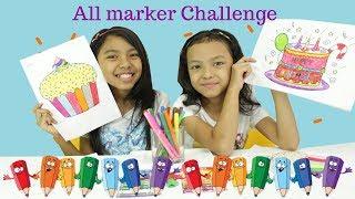ALL MARKER CHALLENGE ♥ DESSERT EDITION - EDISI TAKJIL PUASA
