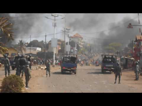Conakry : jets de pierres entre jeunes manifestants et gendarmes à Hamdallaye
