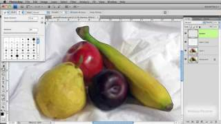 Using the smudge tool to create an oil painting in Photoshop CS4