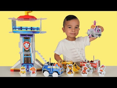 Build A Story Paw Patrol Rescue Vehicles  Look Out Tower Set Unboxing Fun With CKN Toys