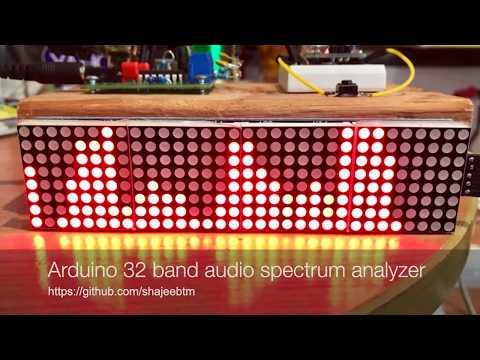 32-Band Audio Spectrum Visualizer Analyzer - Arduino Project Hub