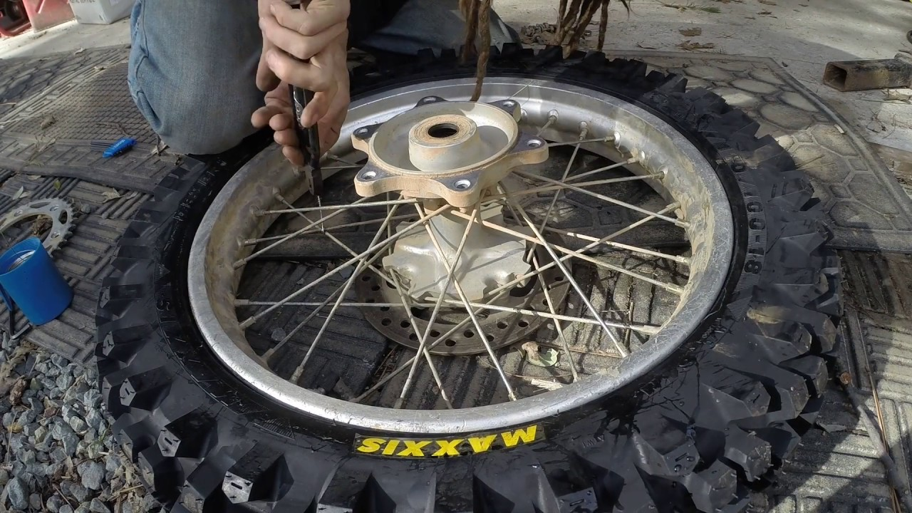 HowTo: Dirt Bike Spoke Wrap - Tie wire safety for your spokes! - YouTube