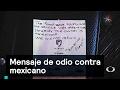 Mensaje de odio contra mexicano - Trump - Denise Maerker 10 en punto