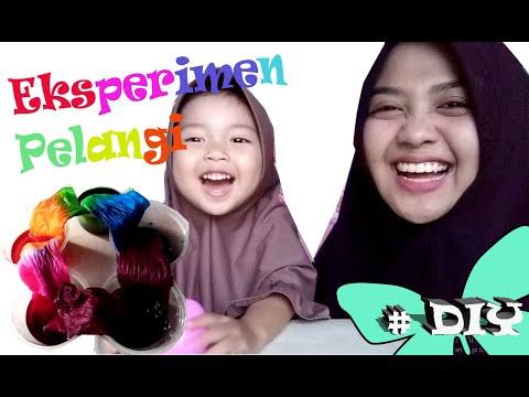 Eksperiment Membuat Pelangi Mudah  kids Video  Aish Nindya Channel