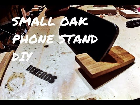 DIY phone holder from Oak