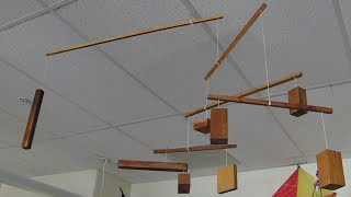 Hang a mobile from the ceiling, learn about levers/// Homemade Science with Bruce Yeany