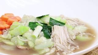 素食料理-金針菇燴絲瓜