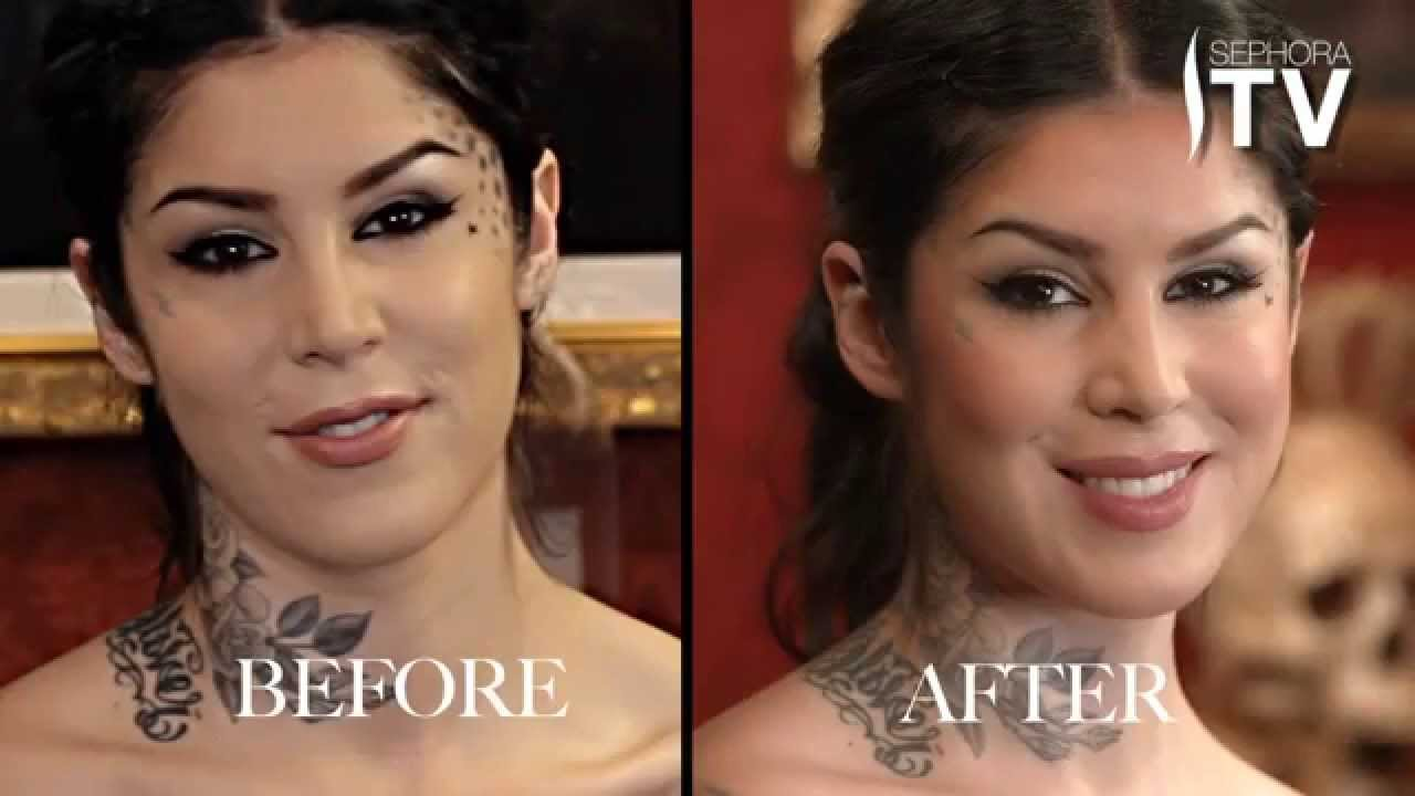 Kat Von D Shows You How To Contour Your Face Using Everlasting Bronzer And  Blush  Youtube