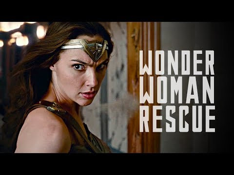 JUSTICE LEAGUE - Wonder Woman Rescue Scene (HD) 2017