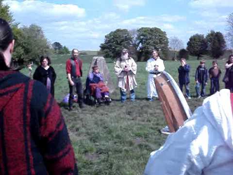 Avebury Stone Circle Beltane 2009 - The Bardic chant