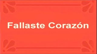 Fallaste corazon (Julio Iglesias) - Karaoke cover demo version