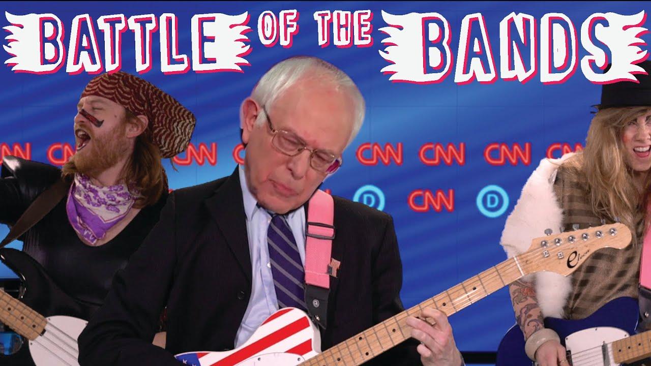 bernie vs hillary battle of the bands youtube
