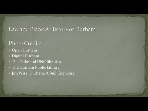 Joseph Blocher | Law and Place: A History of Durham
